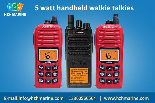 What are 5 watt handheld walkie talkies