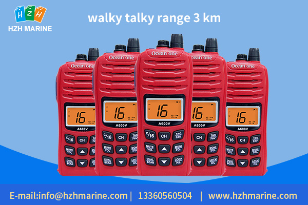 walky talky range 3 km, in line with explosion-proof requirements