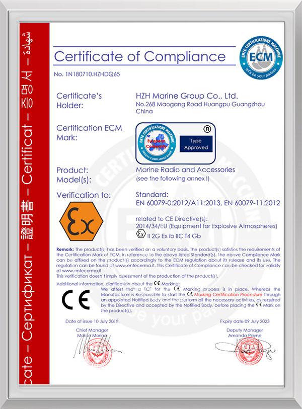 EU ATEX Intrinsically Safe Certification