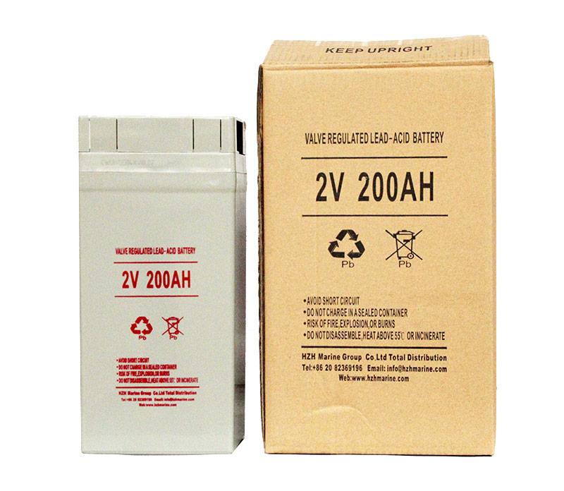 Marine Valve regulated lead-acid battery 2V 200Ah