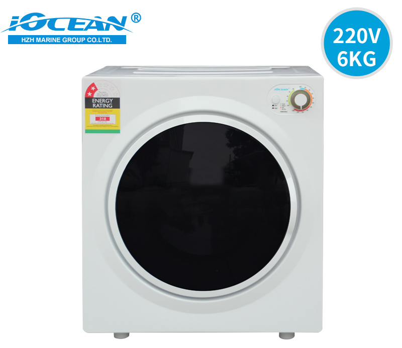220V 60Hz Marine Electric Laundry Dryers 6kg