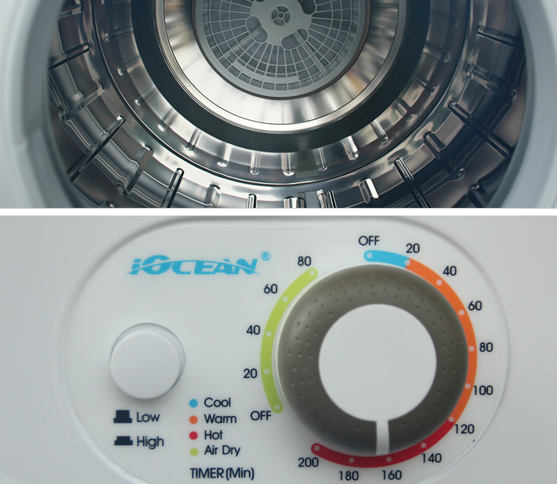 110V 60Hz Marine Electric Laundry Dryers 6kg