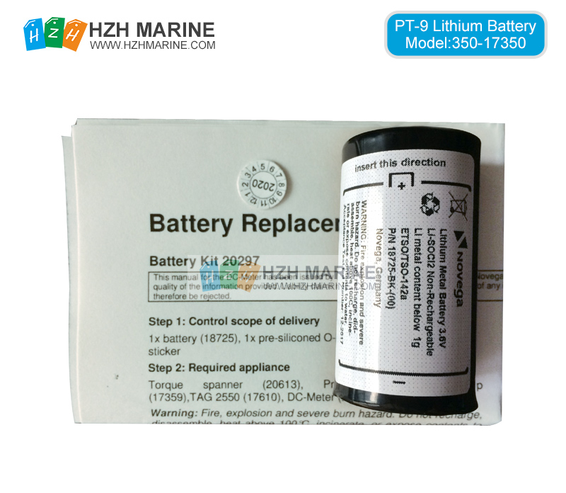 Locator beacon battery P/N: 18725 for PT-9 Ninety