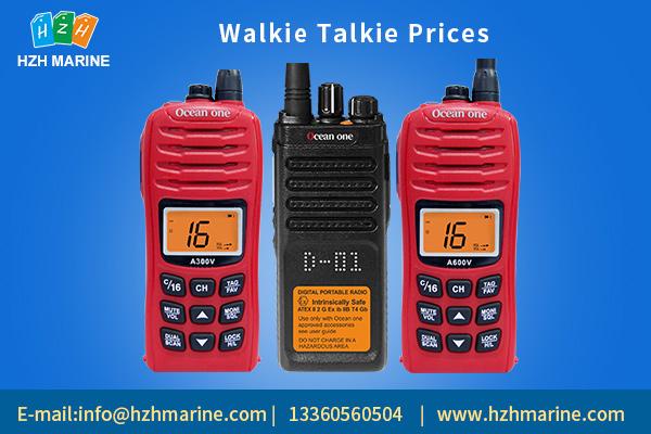walkie talkie prices